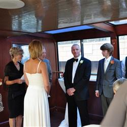 Wedding ceremony on Edelweiss II