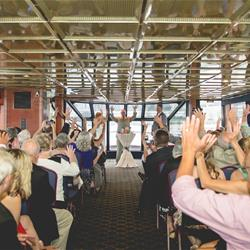 Wedding Ceremony on lower level of Harbor Lady