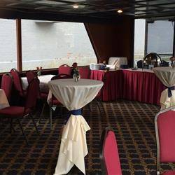 Corporate buffet on upper level of Harbor Lady